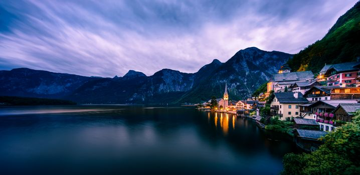 Hallstatt, Austria, Hallstatt, Austria, Hallstatt, sea, the mountains, city, landscape, view