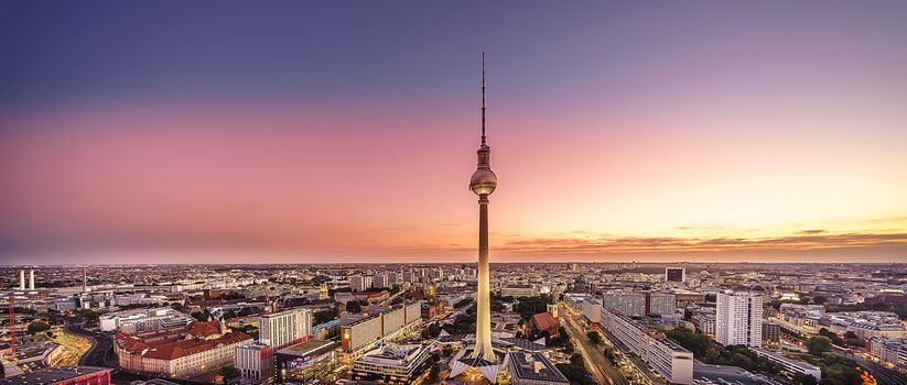 Berlin, Germany, city, television, dusk