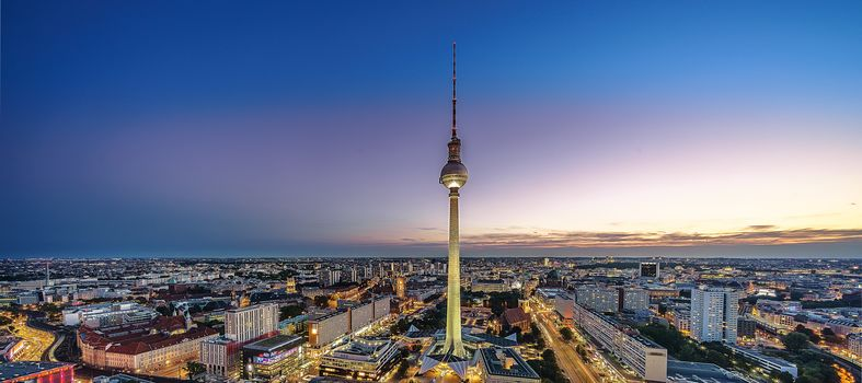 Berlin, Germany, city, television, dusk