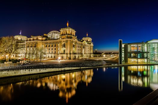 Beat the Reichstag, Berlin, Germany, dusk