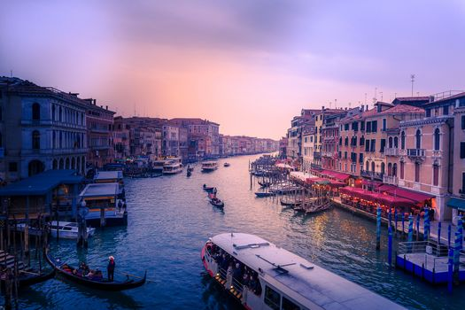 Grand Canal, Venetia, Italy, channel, at home, city, sunset