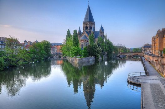 Metz, France, Match, France, Lorraine, the Moselle River, city