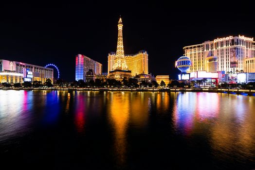 Las Vegas, USA, Nevada, Las Vegas, night, lights, at home, illyuminatsiya, Las Vegas, city, night cities