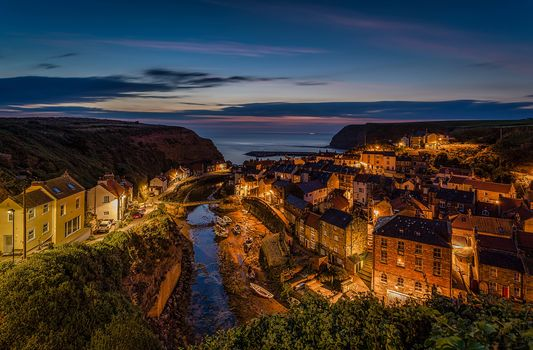North Sea, North Yorkshire, village, Staithes, North Sea, view, at home, Stites, England, River, building, sea, coast, England, Consider Long Island, River Esk, North Yorkshire