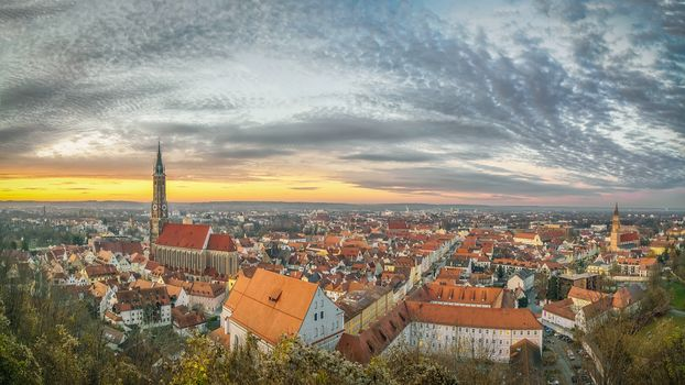 Landshut, Old city, Izar, Bavaria, Germany, view, dusk