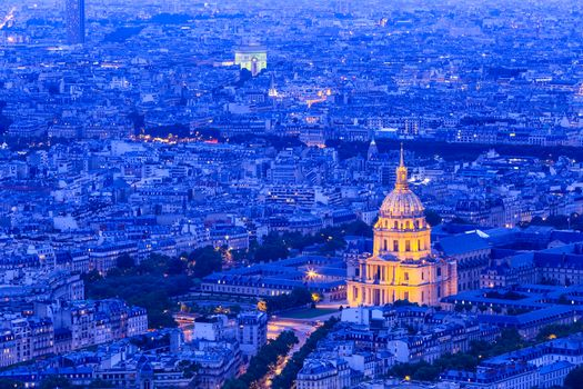 Paris, France, city, night, night cities