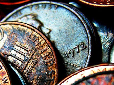 硬币, 老, 钱