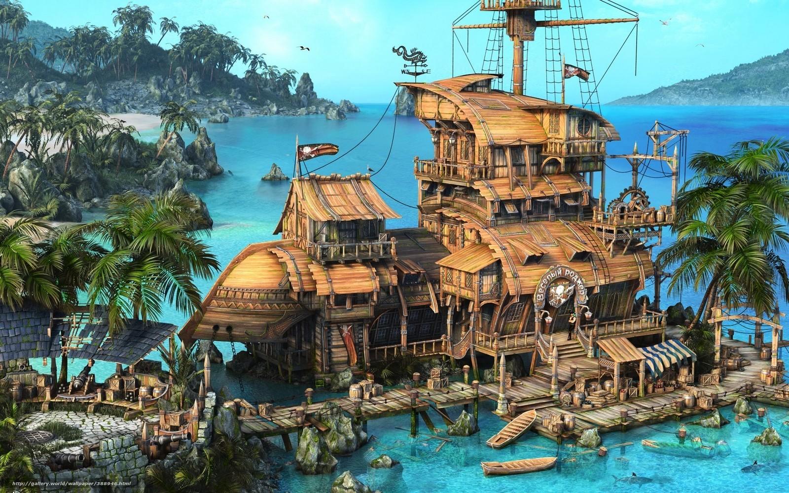 картинки на рабочий стол море и острова приключения кораблекрушения язык изучают только