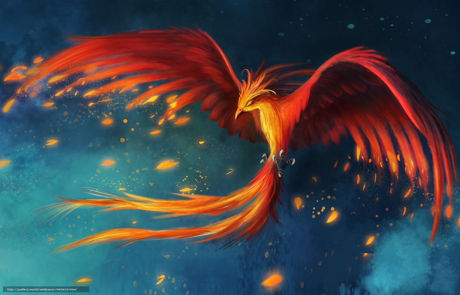 приятный подарок, феникс летит картинка затих