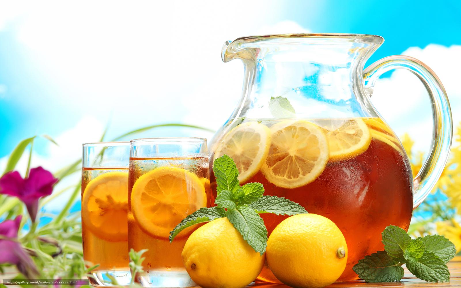 Обои напиток, кувшин, чай, стакан. Еда foto 16