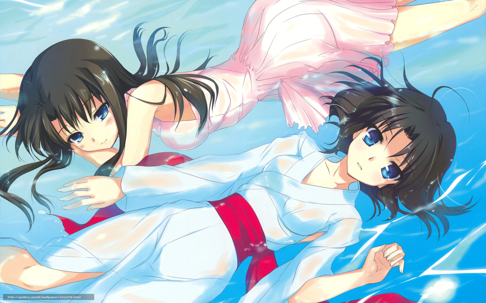 Arte Anime Huecos De Frontera Chicas Vestir Agua 431570