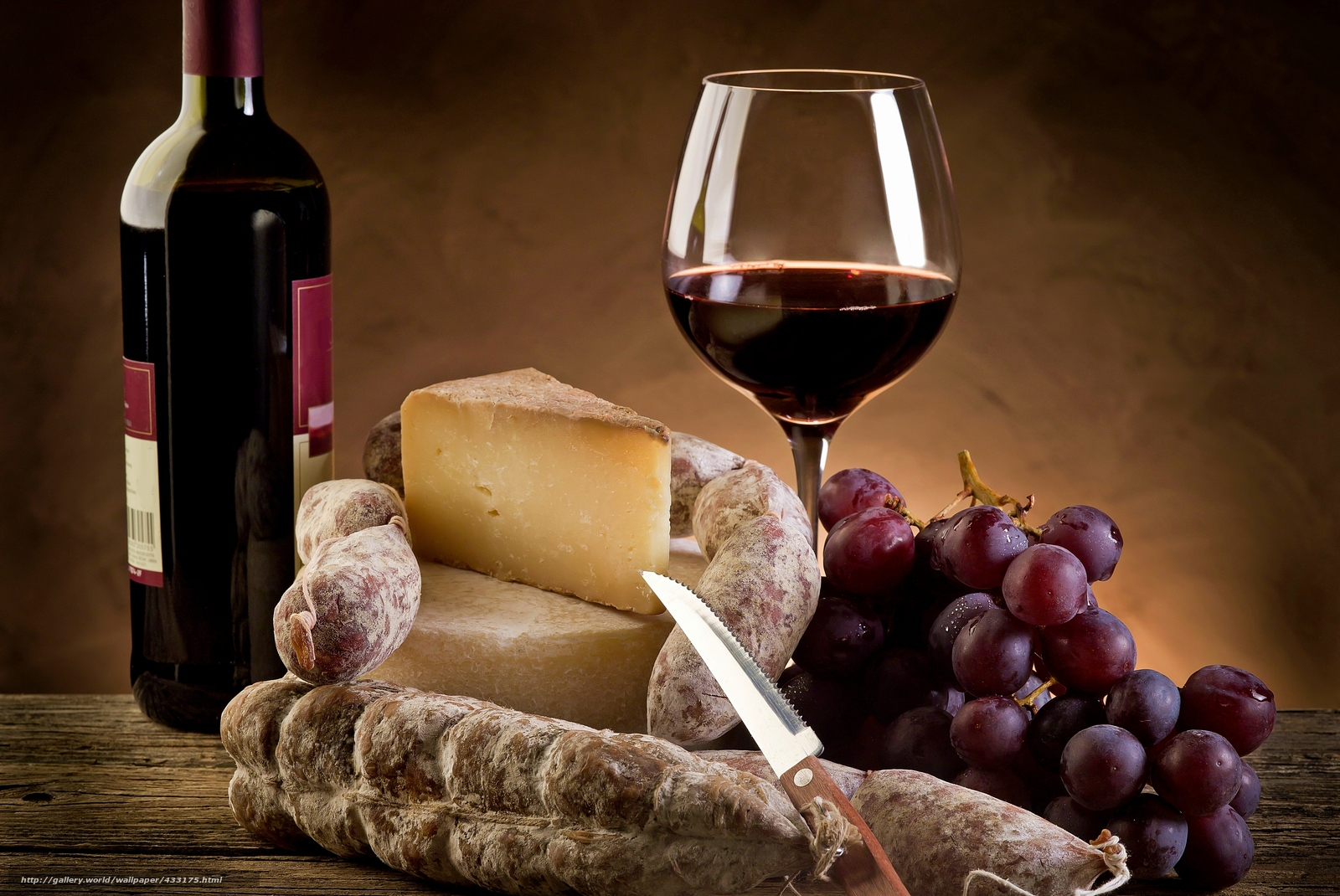 Обои вино, wine, виноград, Grapes, сыр, бутылка, красное, cheese. Еда foto 10
