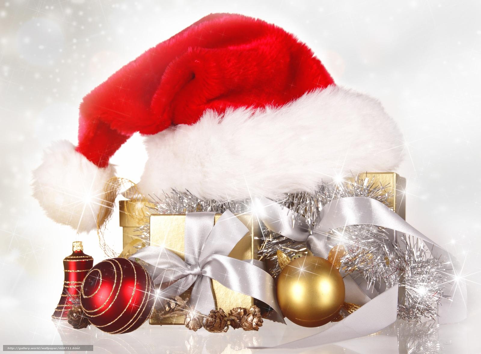 Обои подарок, Коробка, рождество, ёлочные украшения, золотые, шарики. Новый год foto 17