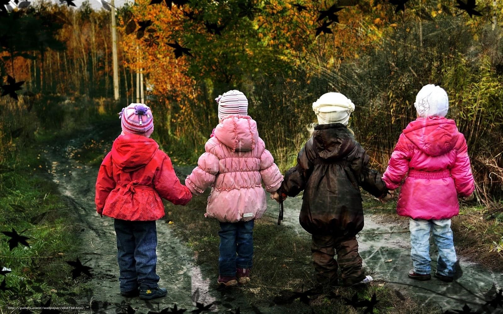 Картинки с детьми осенняя одежда
