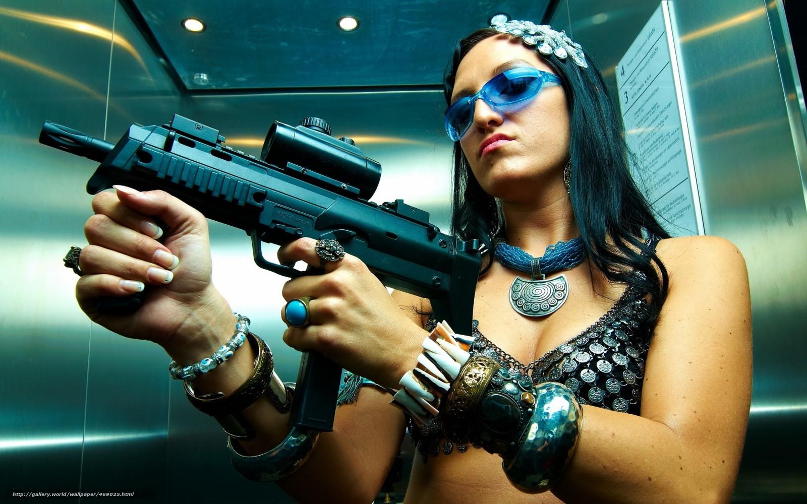 Крутые картинки девушка с пистолетом