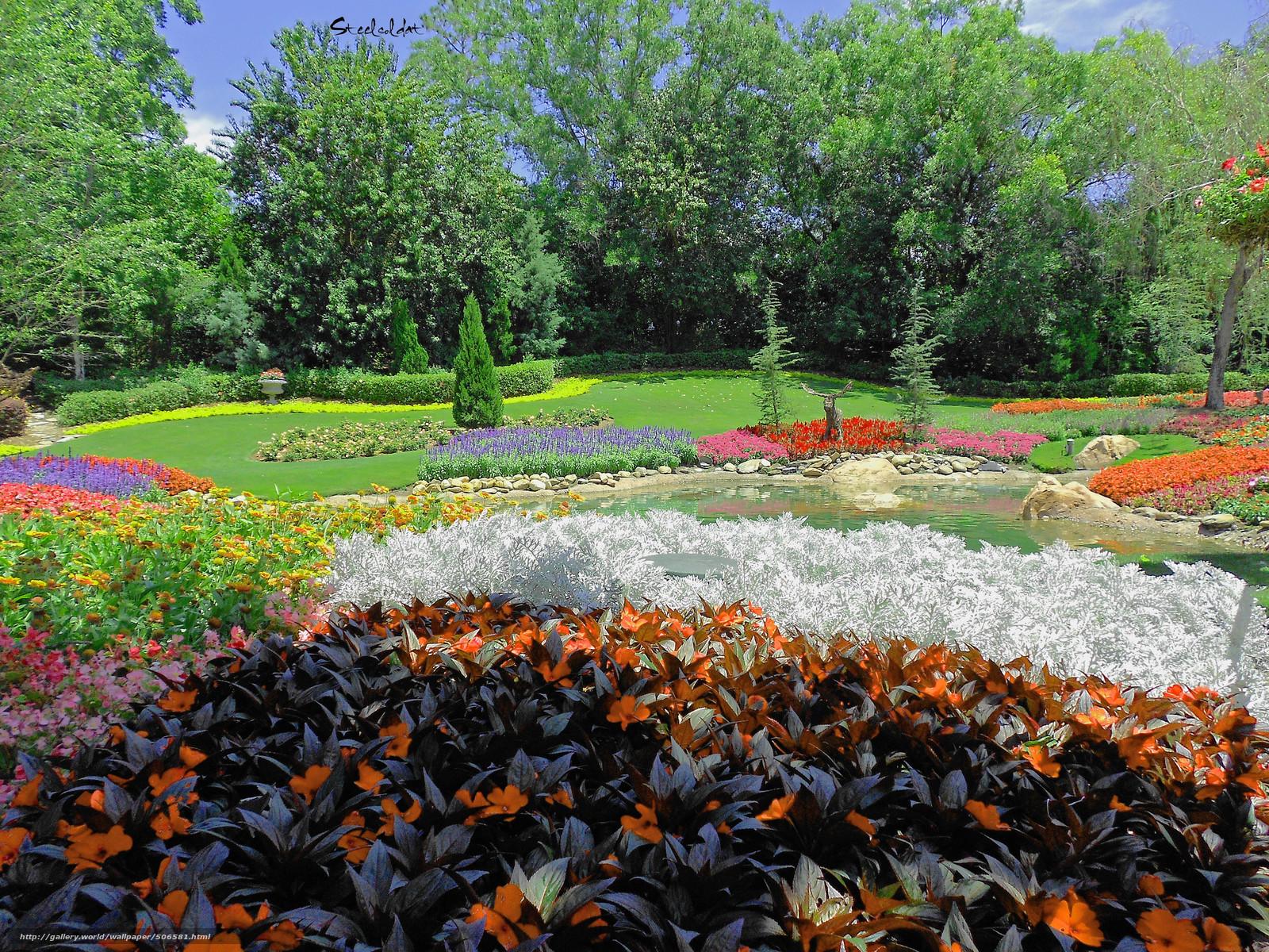 смотреть фото красивых цветников и садов логотип