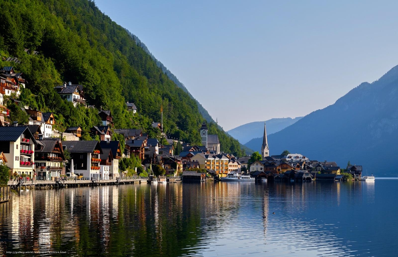 Обои hallstatt, lake hallstatt, австрия, гальштат, austria, alps. Города foto 18
