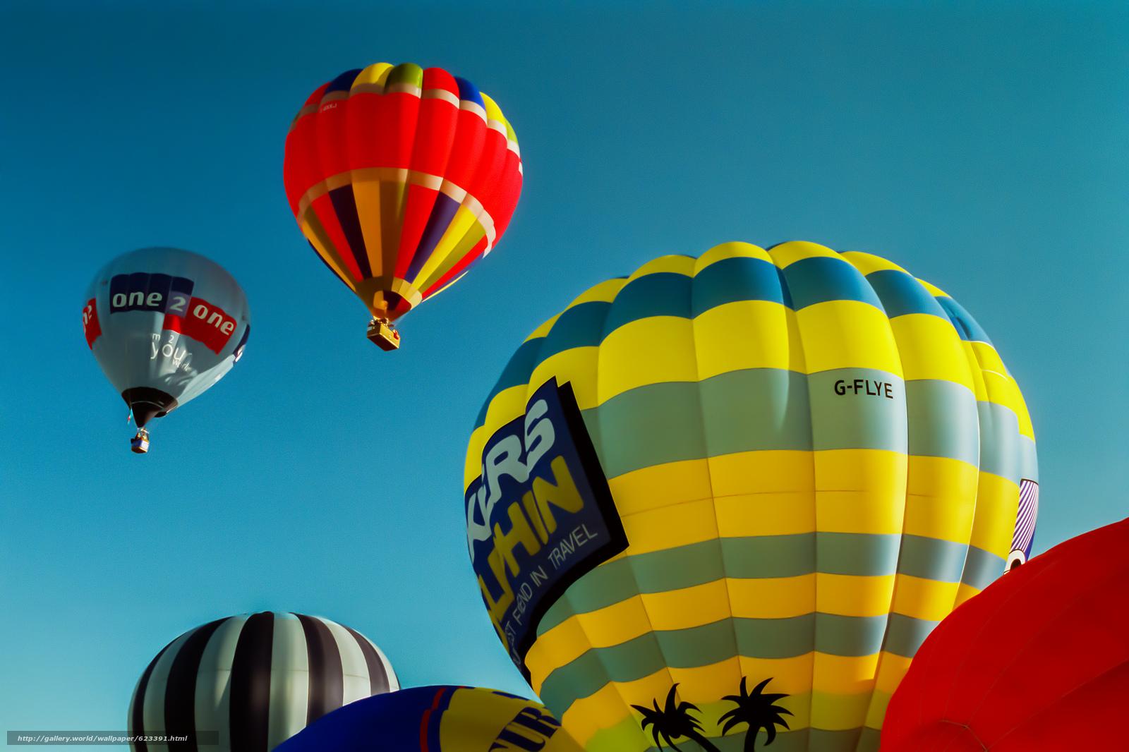 Balloons, sky, flight