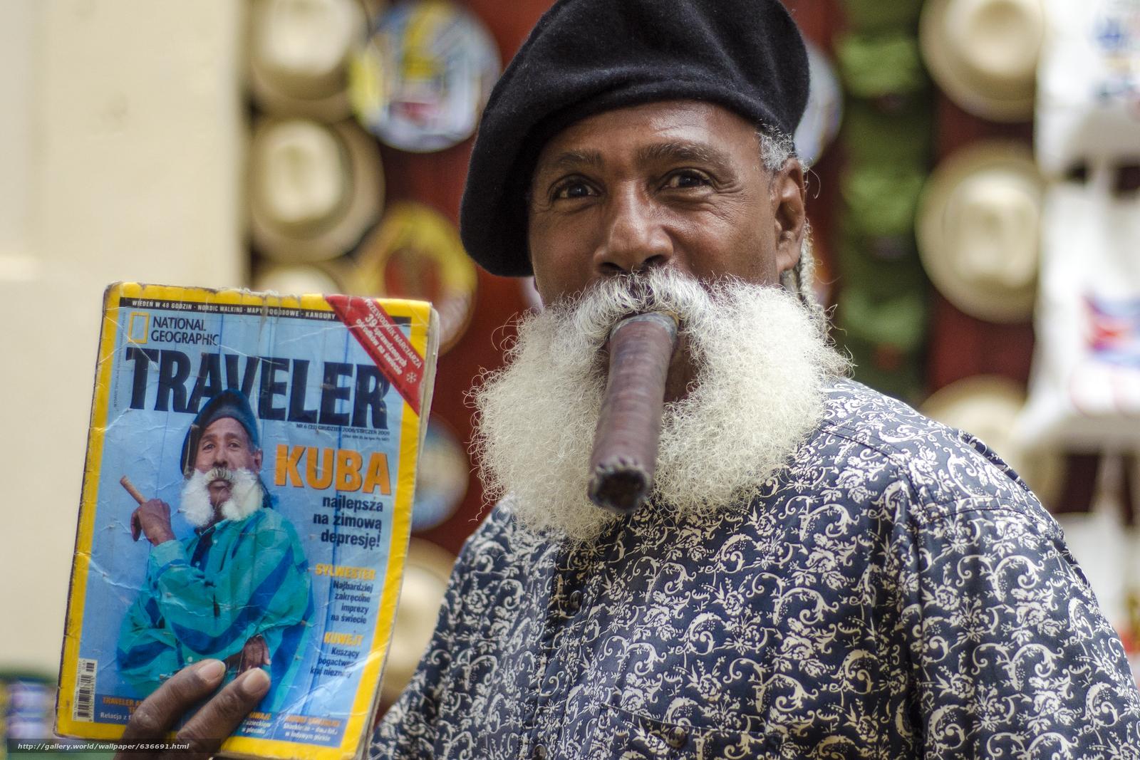 Havana, Cuba, muzhik, cigar, mustache, magazine