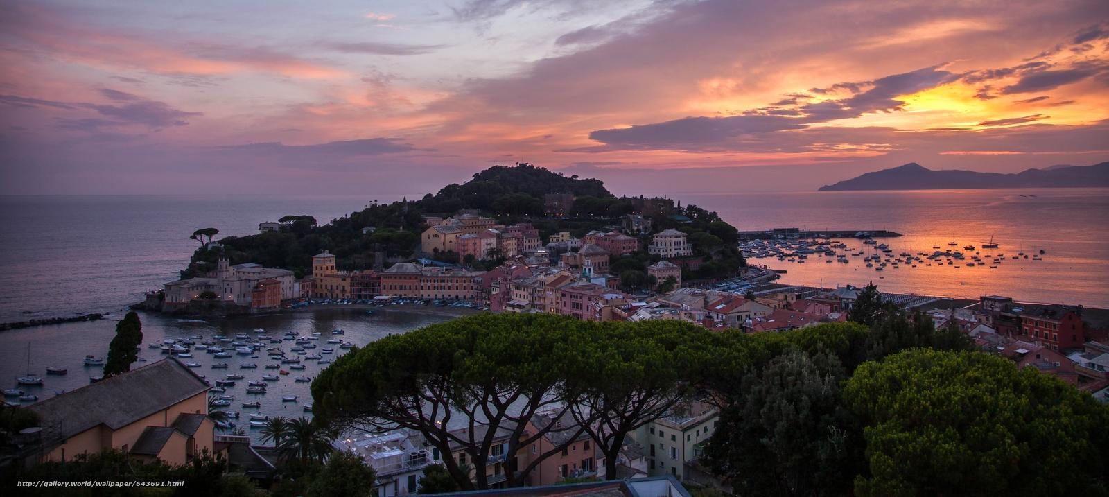 Обои bay of the fables, italy, bay of silence, ligurian sea, liguria, italian riviera. Города foto 6