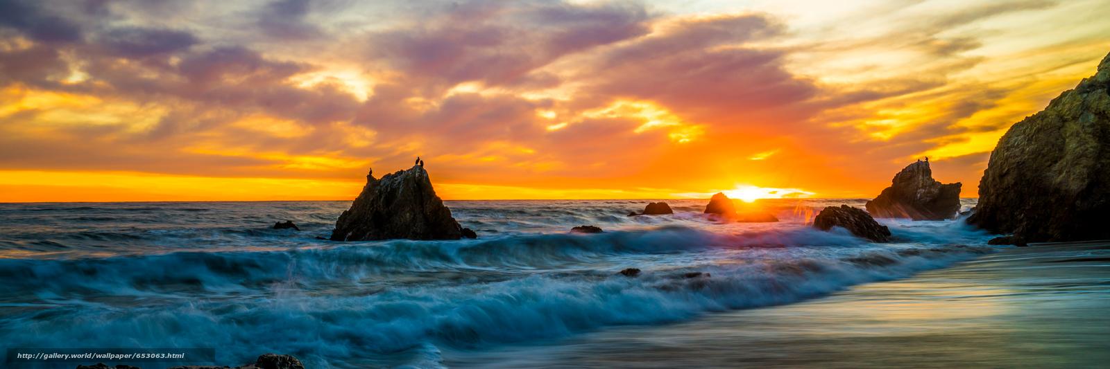 панорамное фото океан высокое разрешение
