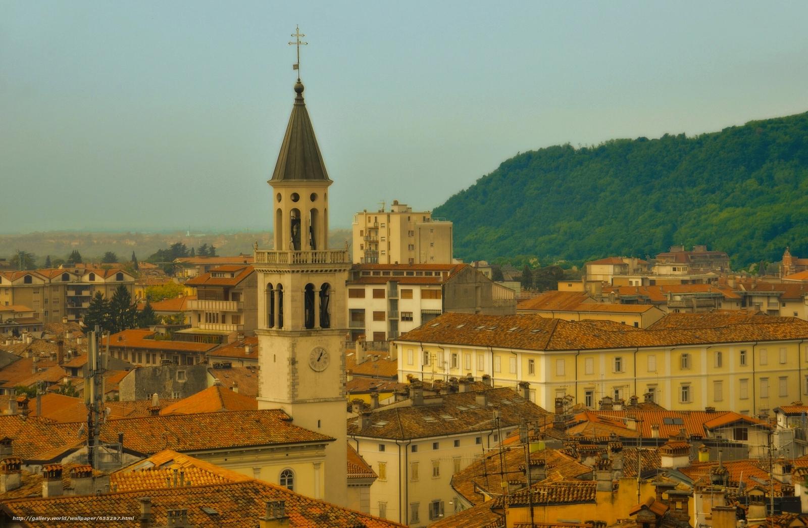 Gorizia, Friuli Venezia Giulia, Italy, Gorizia, Friuli-Venezia Giulia, Italy, tower, home, building, Roof
