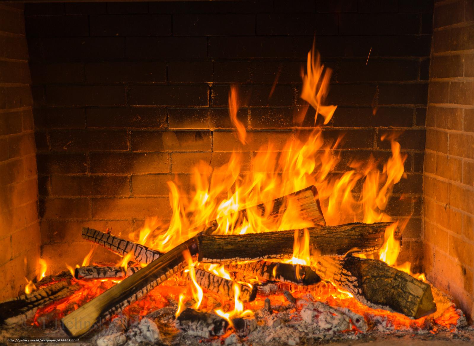 Картинка огонь камин