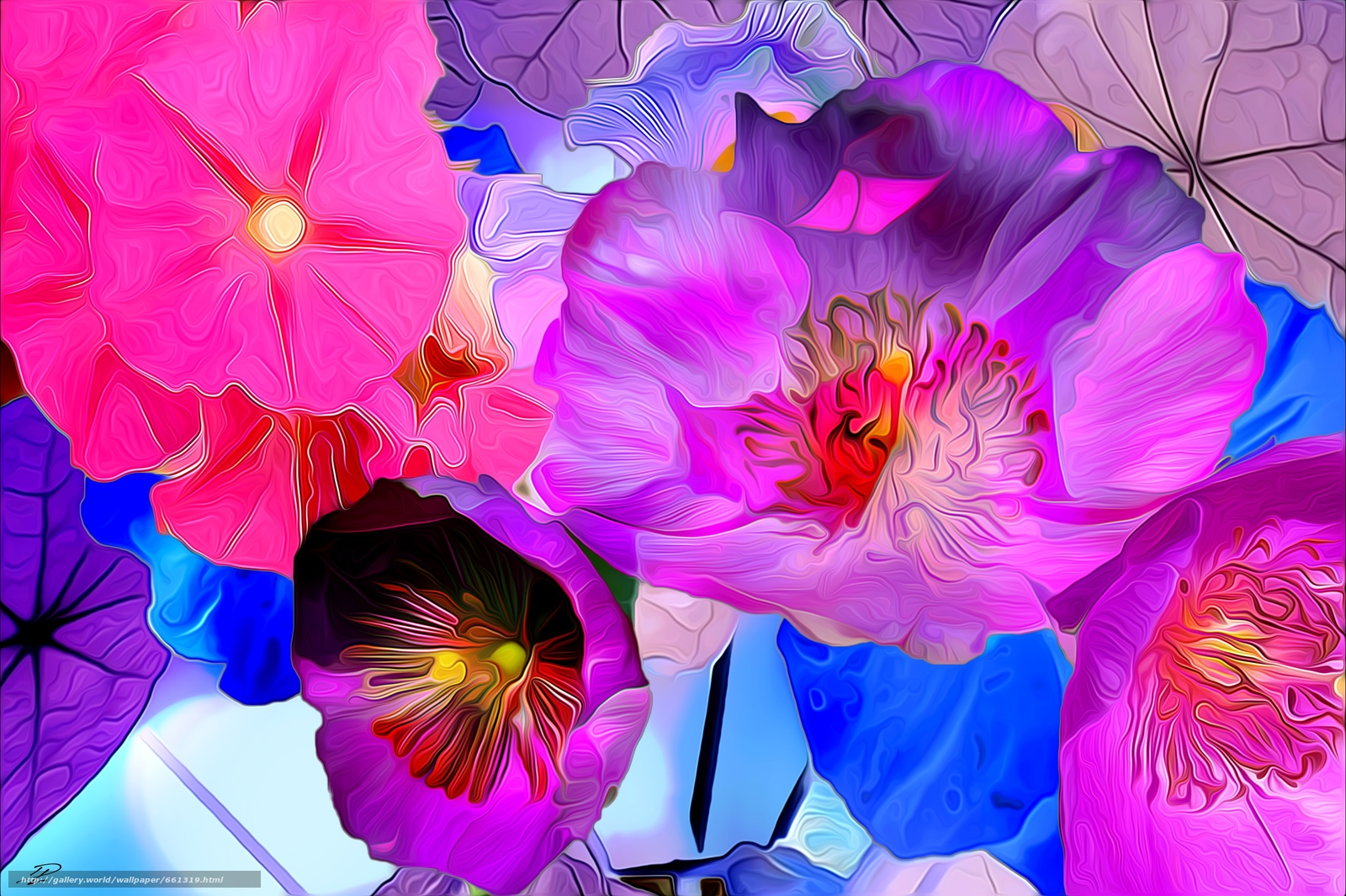 Обои краски, цветы. Абстракции foto 15