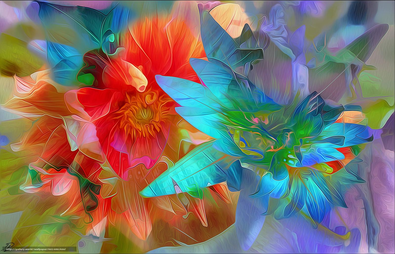 Обои краски, цветы. Абстракции foto 14