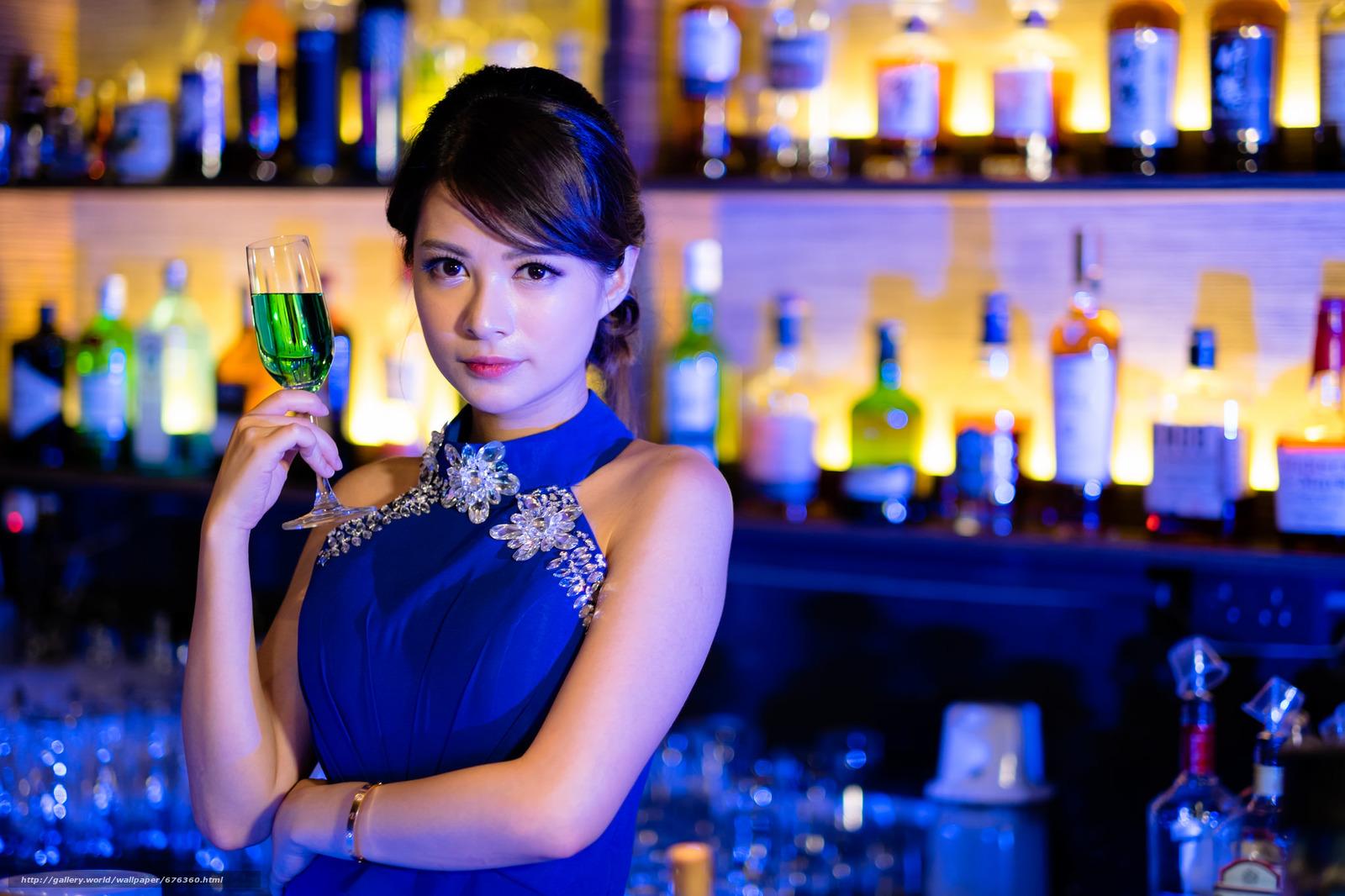 Красивые картинки девушка в ресторане