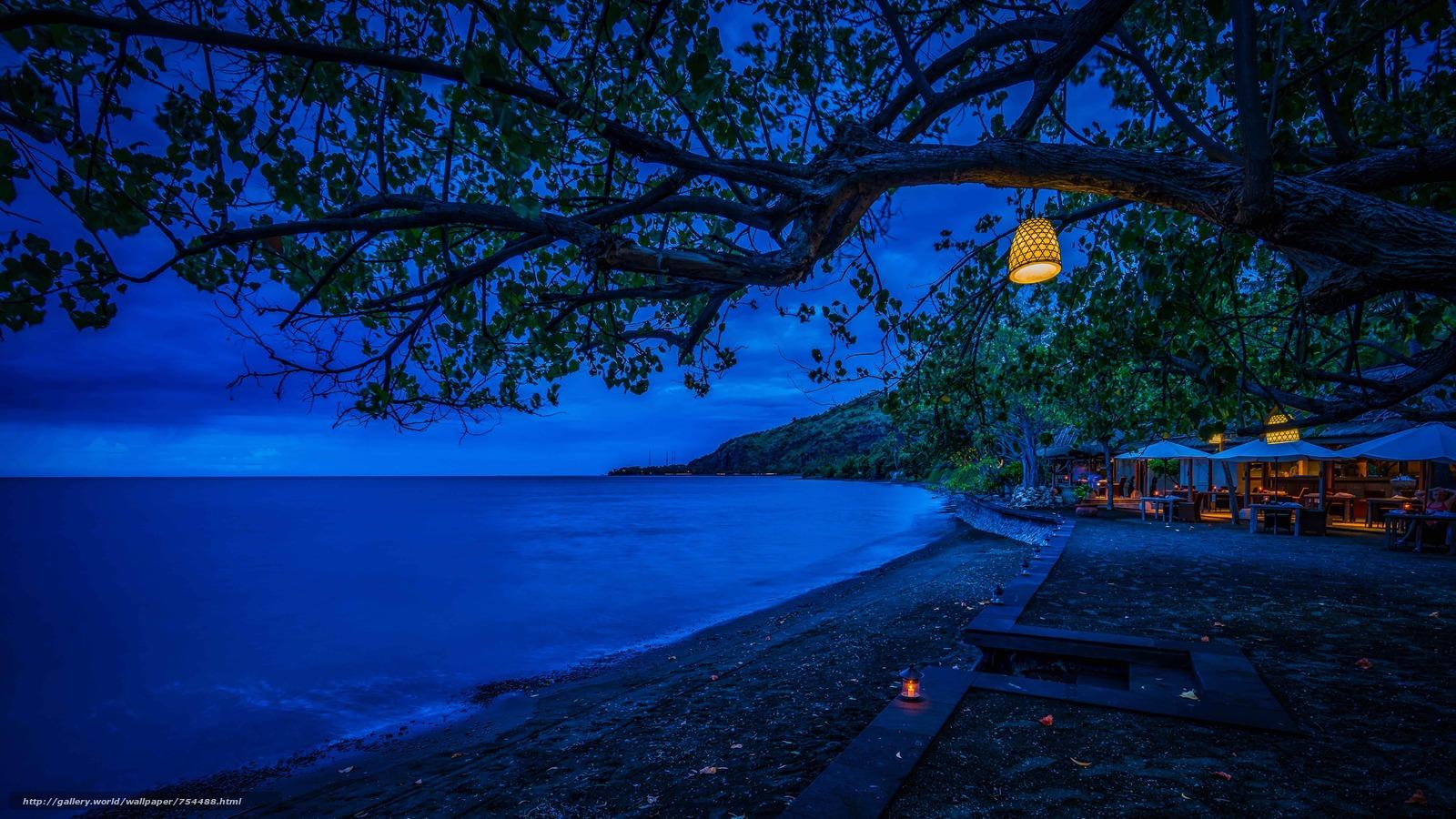 красивые картинки пляжа ночью дублем