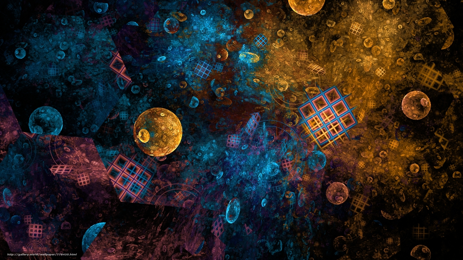 abstraction, background, Colour, the form, texture, fractal, wallpapers